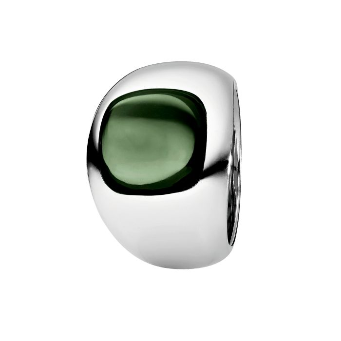 Ring aus Edelstahl mit Hydrothermalquarz