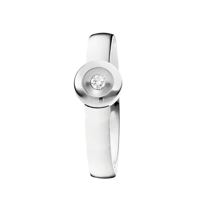 Ring aus Edelstahl mit 0,04 ct. Brillant