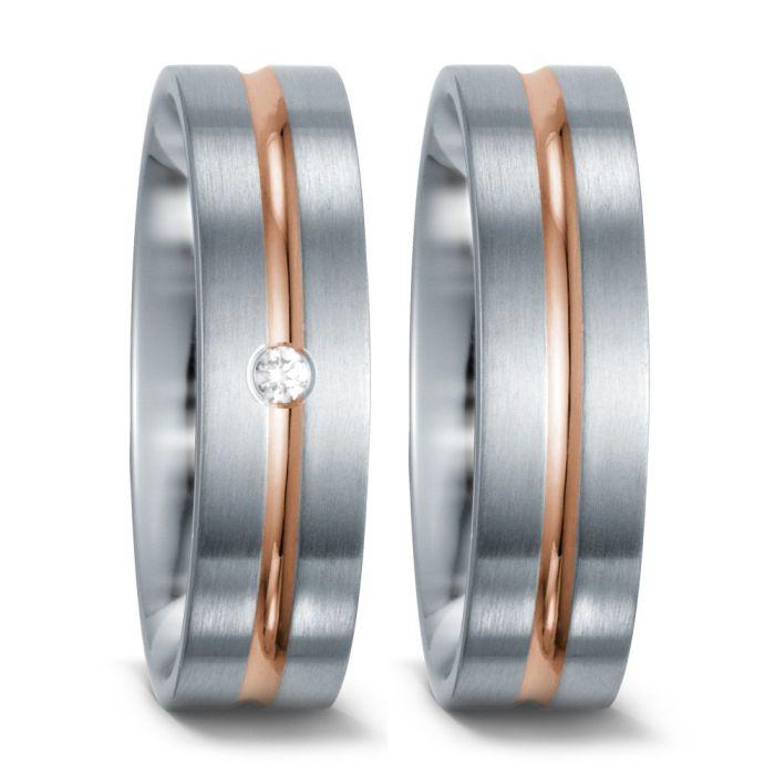 Edelstahl, 750/18 K Rotgold Ring