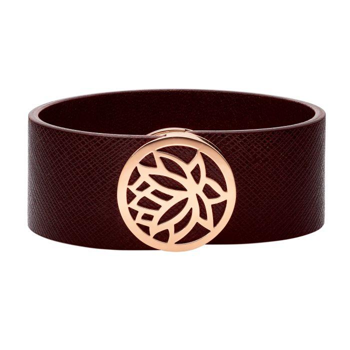 Armband mit italienischem Leder und Magnetverschluss
