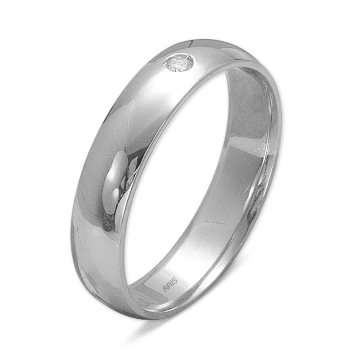 Ring aus 585 Weissgold mit 0,02 Karat Diamant