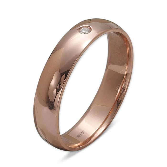 Ring aus 585 Rotgold mit 0,02 Karat Diamant