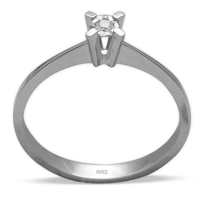 Ring aus 585 Weissgold mit einem 0,026 Karat Diamanten