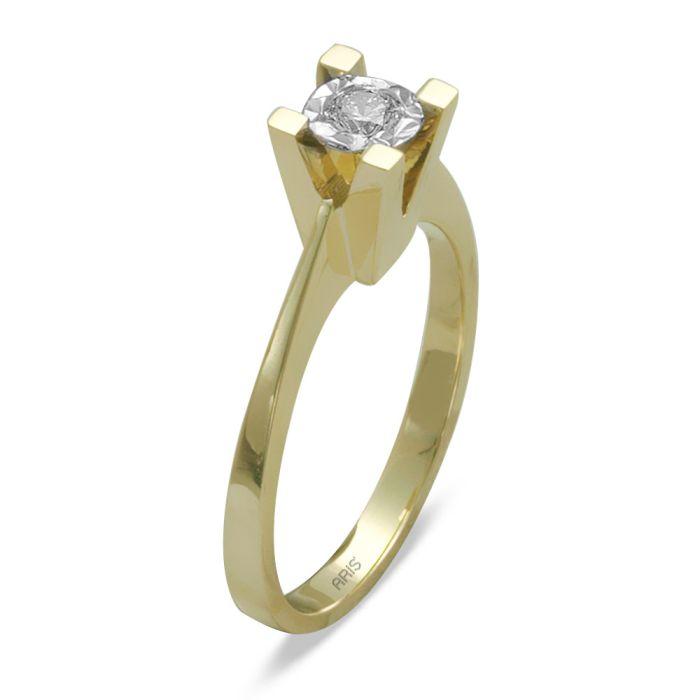 Ring aus 585 Gelbgold mit einem 0,18 Karat Diamanten