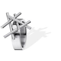 Ring aus Edelstahl mit Stabaufsätzen