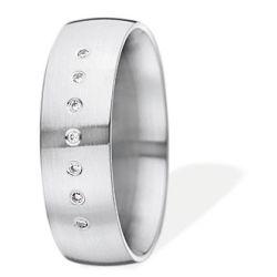 Ring aus Edelstahl mit 0,035 ct. Brillanten