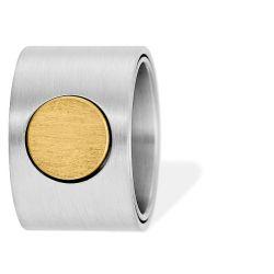 Ring aus Edelstahl goldbeschichtet