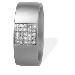 Ring aus Edelstahl mit 0,125 ct. Brillanten