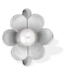 Ring aus Edelstahl mit Zuchtperle