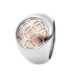 Ring aus Edelstahl roségoldbeschichtet