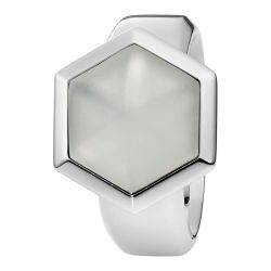 Ring aus Edelstahl mit Bergkristall