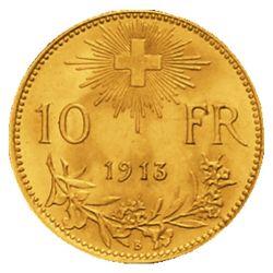 Goldmünze 10 FR. Vreneli