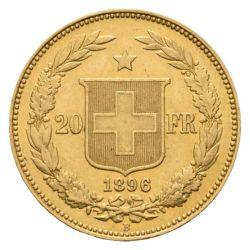 Goldmünze 20 FR. Helvetia