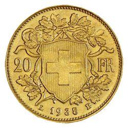 Goldmünze 20 FR. Vreneli