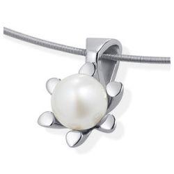 Anhänger aus Edelstahl mit Perle