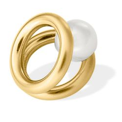 Wechselelement goldbeschichtet mit Perle