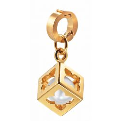 Wechselanhänger goldbeschichtet mit Perle