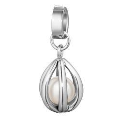 Wechselanhänger aus Edelstahl mit Perle