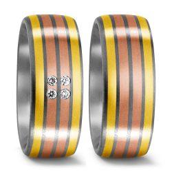 Titan, 750/18 K Gelbgold, 750/18 K Rotgold Ring