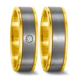 Titan, 750/18 K Gelbgold Ring
