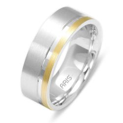 Ring aus 585 Weissgold und Gelbgold