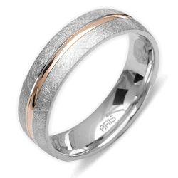 Ring aus 585 Weissgold und Rotgold