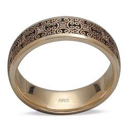 Ring aus 585 Gelbgold mit 0,09 Karat Diamanten