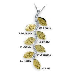 Collier aus 750 Weiss/Gelbgold mit 0,13 und 0,57 Karat Diamanten
