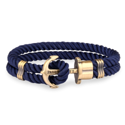 Ankerarmband Brass Nylon Navy Blue - PH-PH-N-N