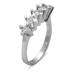 Ring aus 585 Weissgold mit 0,06 Karat Diamanten