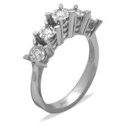 Ring aus 585 Weissgold mit 0,28 Karat Diamanten