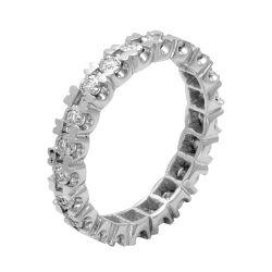 Ring aus 585 Weissgold mit 0,18 Karat Diamanten