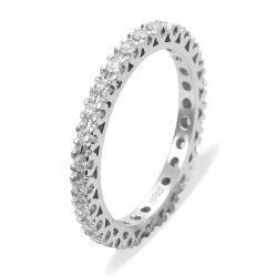 Ring aus 585 Weissgold mit 0,5 Karat Diamanten