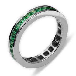 Ring aus 750 Weissgold mit 1,81 Karat Smaragde