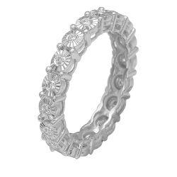 Ring aus 585 Weissgold und 0,25 ct. Diamanten