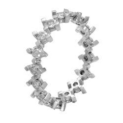 Ring aus 585 Weissgold und 0,24 ct. Diamanten