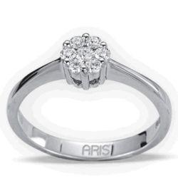 Ring aus 585 Weissgold und 0,24 Karat Diamanten