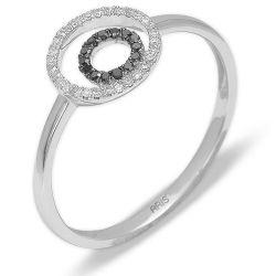Ring aus 585 Weissgold und Diamanten