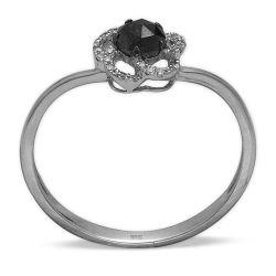 Ring aus 585 Weissgold mit Diamanten