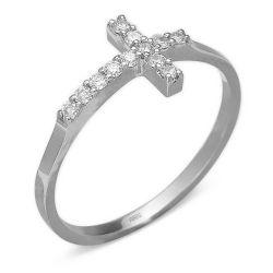Ring aus 585 Weissgold und 0,15 Karat Diamanten