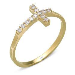 Ring aus 585 Gelbgold und 0,15 Karat Diamanten