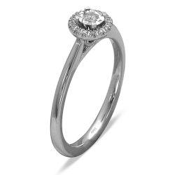 Ring aus 585 Weissgold mit 17 Diamanten