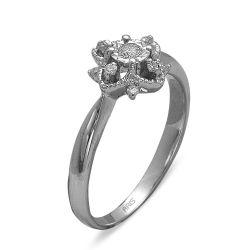 Ring aus 585 Weissgold mit 9 Diamanten