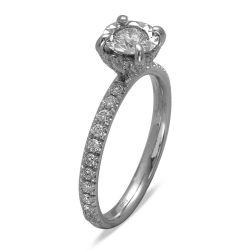 Ring aus 585 Weissgold mit 41 Diamanten