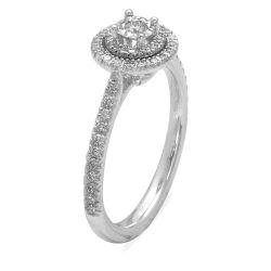 Ring aus 585 Weissgold mit 62 Diamanten