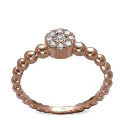 Ring aus 585 Roségold und 9 Diamanten