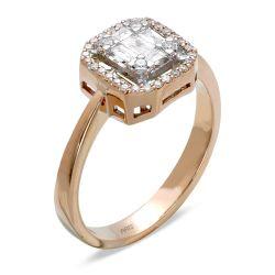 Ring aus 750 Roségold mit 37 Diamanten