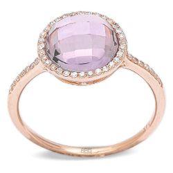 Ring aus 585 Weissgold mit 0,15 Karat Diamanten