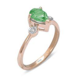 Ring aus 585 Roségold mit 0,02 Karat Diamanten und einem 0,98 Karat Edelstein