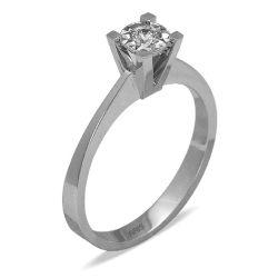 Ring aus 750 Weissgold mit einem 0,14 Karat Diamanten